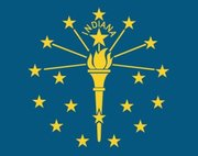 Flag of Indiana. Image provided by Classroom Clip Art (http://classroomclipart.com)