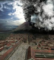 The eruption of Vesuvius in Discovery Channel's .