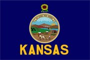 Flag of Kansas. Image provided by Classroom Clip Art (http://classroomclipart.com)