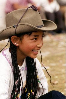 A Tibetan girl from Amdo