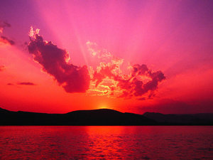 A red sunset panorama