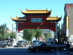 The Chinatown gate on boulevard Saint-Laurent