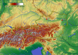 Topography of Austria